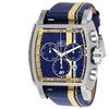 Invicta Mens 26396 S1 Rally Quartz Chronograph Blue, Ivory Dial Watch