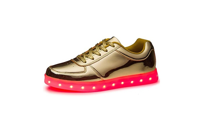 Unisex 7 Color USB Charging LED Flashing Sneakers