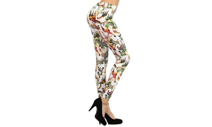 Lady's STELLA ELYSE Psychedelic Zebra Printed Legging