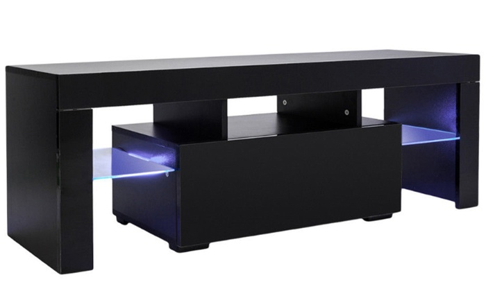 Up To 54 Off On Tv Cabinet Stand Unit Led Lig Groupon Goods