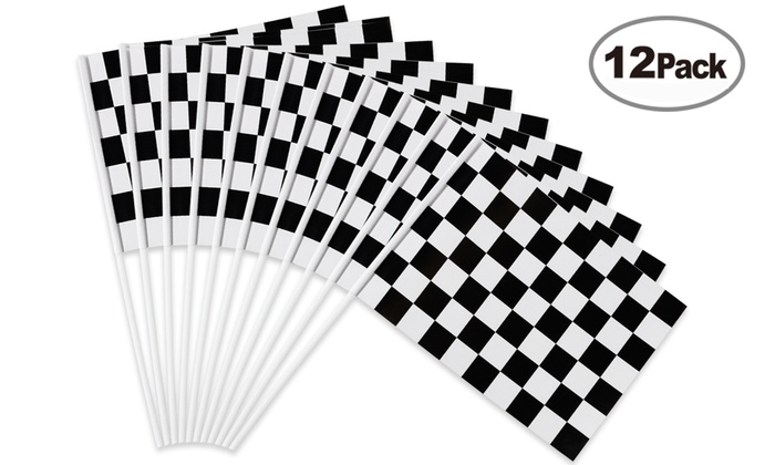Black and White Checkered Check 8/'x5/' Flag