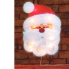 "16"" Lighted Tinsel Santa Claus Face Xmas Window Silhouette Decoration"