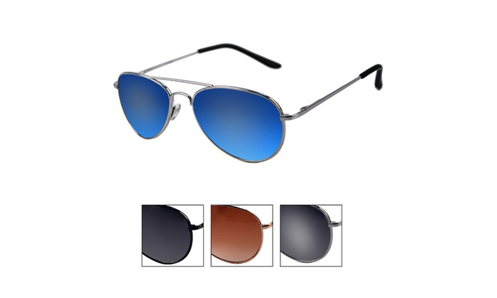POP Fashion Children Metal Classic Aviator Color Lens Sunglasses P1302
