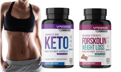 BHB Keto Diet Pills & Pure Forskolin Extract Fat Burner (Combo)