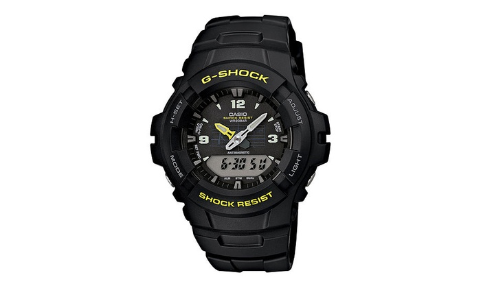 7cc034bb7 Casio G-Shock Ana-Digi Mens Watch G-100-9CMCR | Groupon