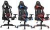 Costway Massage Gaming Chair Reclining Racing Chair Headrest and Lumbar Support