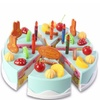 37pcs DIY Birthday Cake Model Kitchen Toy