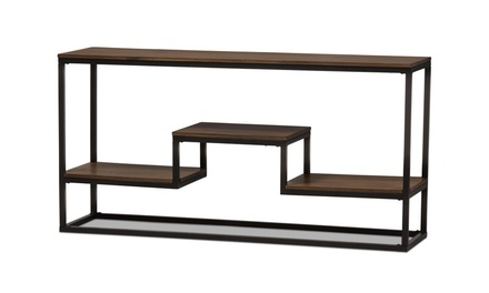 Rustic Industrial Large Console Table