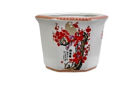 Cherry Blossom Porcelain Flower Pot 210aa018-0528-42aa-bc15-723228c4c55f