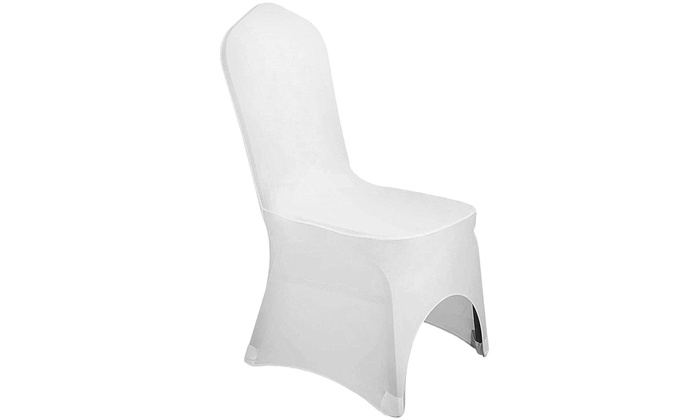 Remarkable 100 Pc White Polyester Spandex Banquet Dining Party Wedding Alphanode Cool Chair Designs And Ideas Alphanodeonline