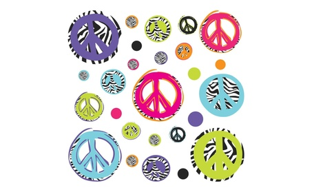 RoomMates RMK1860SCS Zebra Peace Signs Peel & Stick Wall Decals dcf1bf8b-a319-4cd7-ae89-2aae14578d86