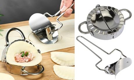 Stainless Steel Dumpling Maker Mould Dough Presser Kitchen Gadget Tool