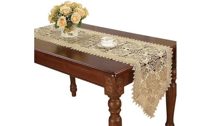 Up To 45 Off On 16 36 Inch Lace Table Runne Groupon