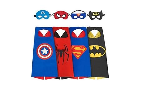 Satin Superhero Cape & Mask Sets, Pack of 4 70a655aa-bb18-444d-a59a-340f3a535b9f