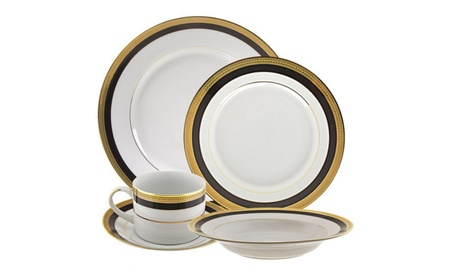 10 Strawberry Street Sahara Black 20-Piece Dinnerware Set 75a4e4c8-632c-4cb2-b35d-9319cf248eca