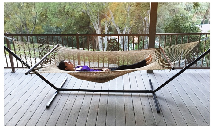 Apontus Two Point Tight Weave Caribbean Patio Hammock Tan Color ...