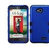 Insten Titanium Blue/blk Hybrid Hard Case For Lg Optimus L70 Exceed 2