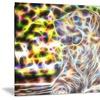 Colorful Retriever Metal Wall Art 28x12