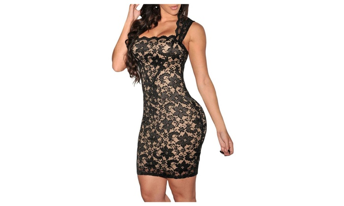 SHH Women Vintage Clubwear Bodycon Lace Party Dress