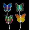 S0 Fiber Optic Butterfly Garden Patio Christmas Lights Green Wire