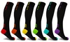 XTF High Energy Color Block Compression Socks (6-Pairs)