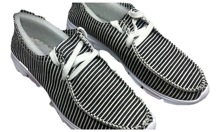 Men's Slip on Rubber Athletic Canvas Shoes