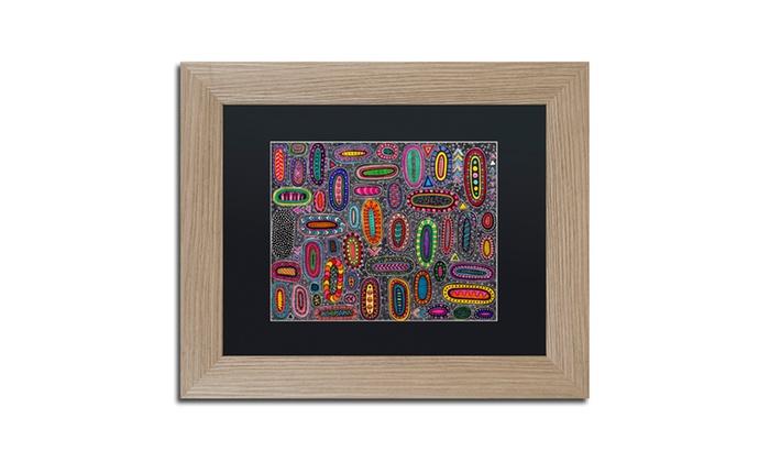 Groupon Goods: Hello Angel 'Microscopic' Matted Birch Framed Art