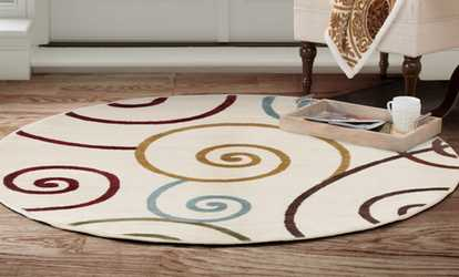 Groupon Closeout Lavish Home Area Rug 5 Round