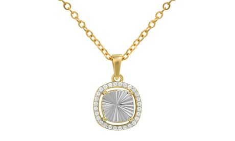 18K Gold Square Shape Diamond Cut Pave Necklaces With Gift Box By Sophia Lee 84fa8a93-1b83-4a10-8c36-25dea4827465