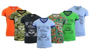 Men's Short Sleeve V-Neck T-Shirts (5- Pack)