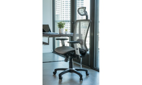 Fully Meshed Ergo Office Chair with Headrest (Grey) 00243419-a021-485b-b3bc-c43aff36cf2e