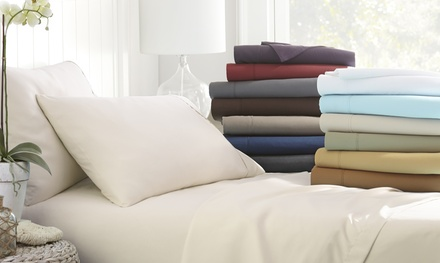 Merit Linens Premium Deep Pocket 4 Piece bed Sheet Set