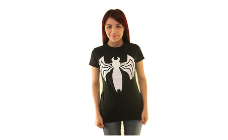 Marvel Venom Future Spiderman Women's Black T-shirt NEW Sizes S-XL e1cba11f-f927-44fd-8cbe-260c02ec5714