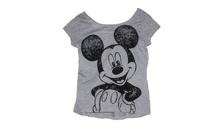 Disney Mickey Mouse Junior Womens Crop Top T Shirt Happy Hi Lo 31854c9e-ffb8-4dcc-9d1c-04693758cd40