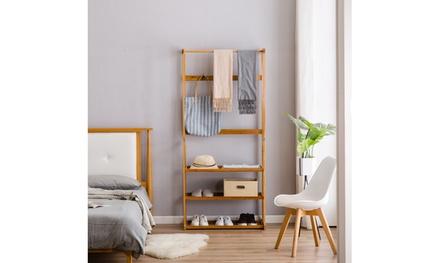 Three-Layer Coat Rack (Flat) Wood , Living Room, Bedroom, Storage Organizer