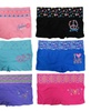 Women 6 Pack Assorted Print/Color High Waisted Boyshorts Panties