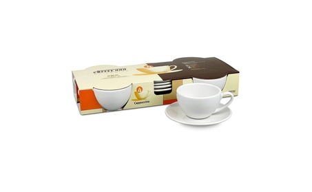 Konitz 1750040001 No. 4 Set of 4 Cappuccino Cups-Saucers-Gift Boxed ae22754b-aafd-493f-b187-73874a8f3fd3