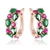 Jungle Bijoux Candy Apple Flower Garden Hoop Earrings