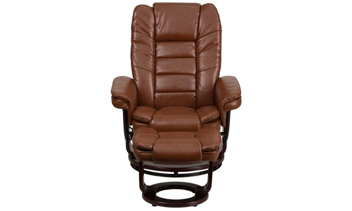 Excellent Contemporary Leather Recliner And Ottoman With Swiveling Dailytribune Chair Design For Home Dailytribuneorg