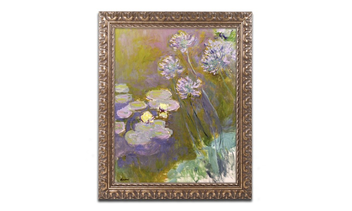 Groupon Goods: Monet 'Waterlilies and Agapanthus' Ornate Framed Art