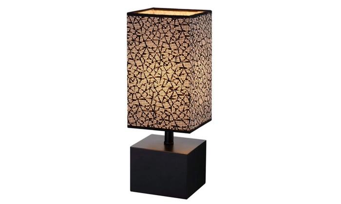 Black Wooden Table Lamp Base Desk Bedside Pattern