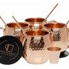 Mule Science Moscow Mule Copper Mugs - Set of 4 - Pure Copper