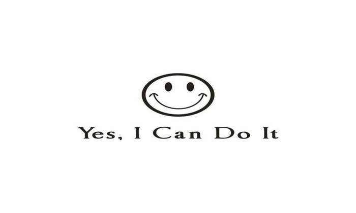 YesI Can Do It English Words Quote Wall Sticker