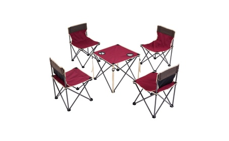 Portable Folding Table Chairs Set Outdoor Camp Beach Picnic cf8a5290-1d0c-4878-8a64-43bf1be5dbdf