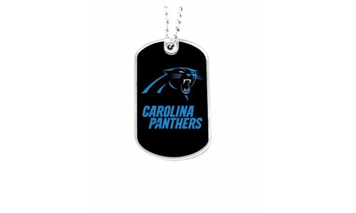 Carolina Panthers Dog Tag Necklace