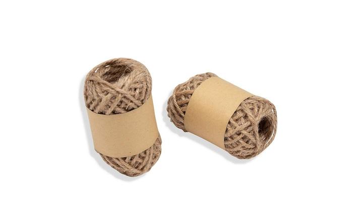 100 Yds Burlap Natural Jute Rustic Twine Rope Cord Brown String Craft DIY Decor