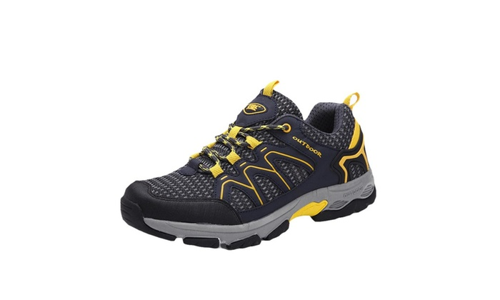 Men's Round Toe Low Heel Hiking Shoes