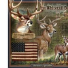 American Expedition Square Tin Art Sign - Whitetail Deer