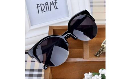 Unisex Round Frame Half Rim Sunglasses Glasses c02d501e-3f4a-4180-826f-6451c60b4ee1