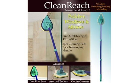 Clean Rich Extendable Multi Purpose Surface Cleaner With Cleaning Pads fc38d29b-33b5-4788-991a-dd0f1e6b06c2